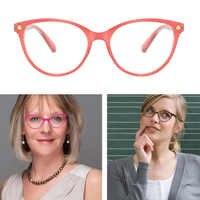 MIZHO High Quality PC Frame 16g Light Eyeglasses Ladies Non spherical Coated lenses Reading Glasses Women Candy Colors 2019