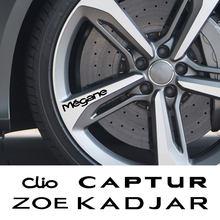 Pour Renault Megane Clio Captur Fluence Kadjar Koleos Laguna scénic Zoe voiture roue jante vinyle autocollants Auto décoration accessoires