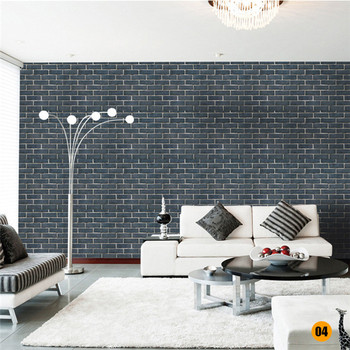 45*100cm Bricks Pattern Wall stickers Home Bedroom Decoration Environmental Protection Waterproof Vinyl Wallpaper 10