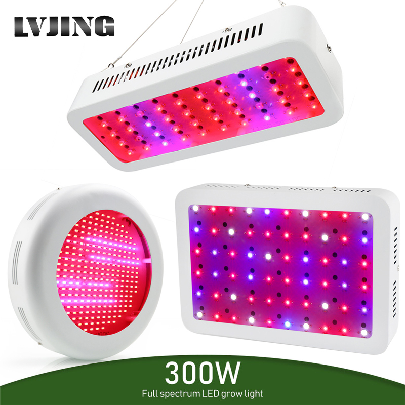 LVJING 300W LED Grow Light Full Spectrum Phyto Plant Growth Lamp For Indoor Vegetable Seedling Flower Seedling Tent Fitolampy