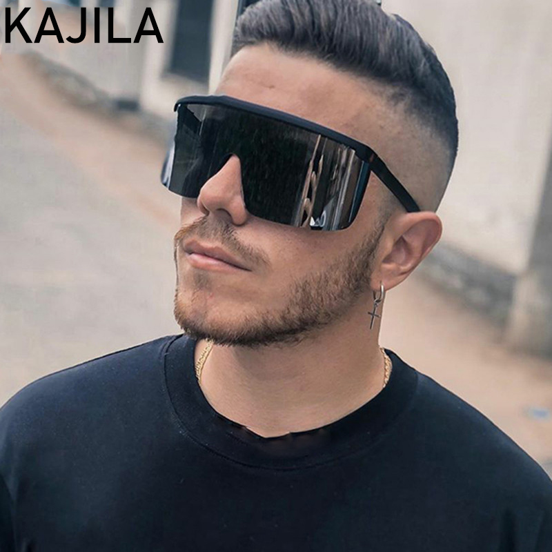 2020 Fashion Oversized Square Sports Sunglasses Men Big Frame Brand Designer Vintage Rectangle Sun Glasses For Man Shades oculos