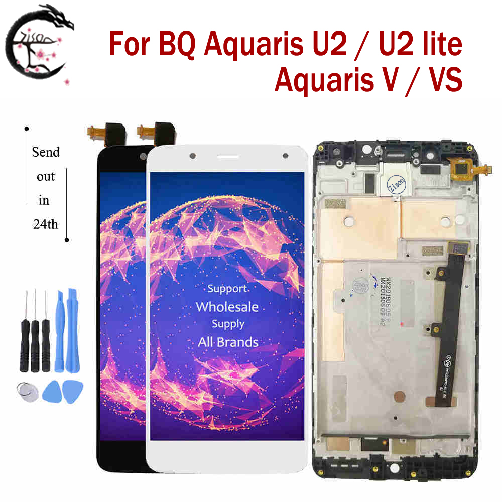 "5.2"" LCD With Frame For BQ Aquaris U2 Lite Display V VS LCD Screen Touch Sensor Digitizer Assembly Display For BQ U2lite Screen"