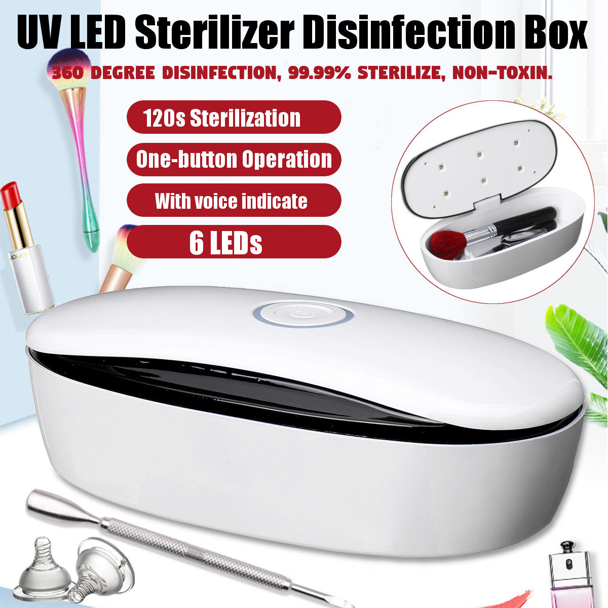 LED Dry Temperature Sterilizer Vet-Tattoo Dental Medical Autoclave Manicure Tool Sterilizer For Nails Pedicure Salon Adapter