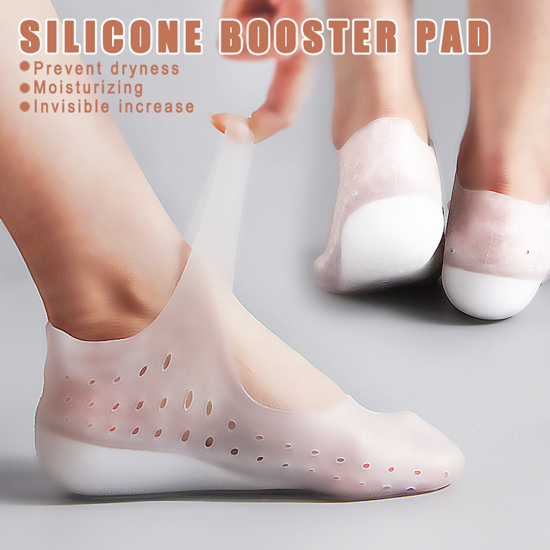 1 Pair Invisible Height Lift Heel Pad Sock Liners Increase Insole Silicone For Women Men Zapatos De Mujer Dropship