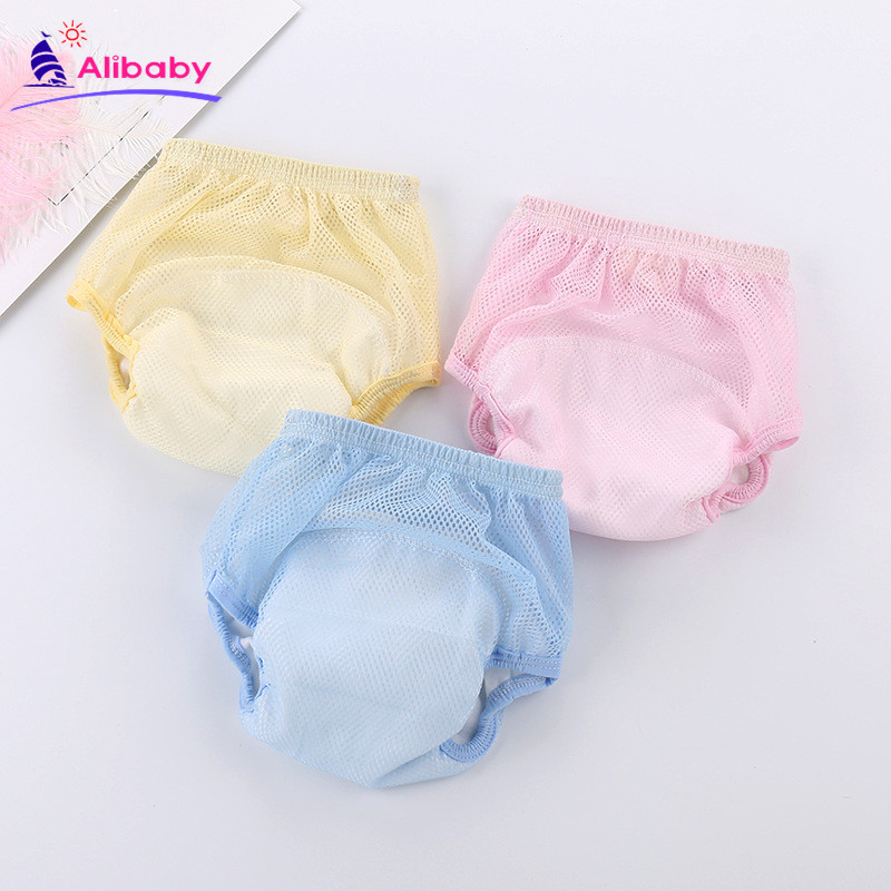 2019 New Baby Net Cloth Diaper Baby Summer Ultra-thin Breathable Diaper Pants Newborn Four-layer Gauze Diaper Pocket