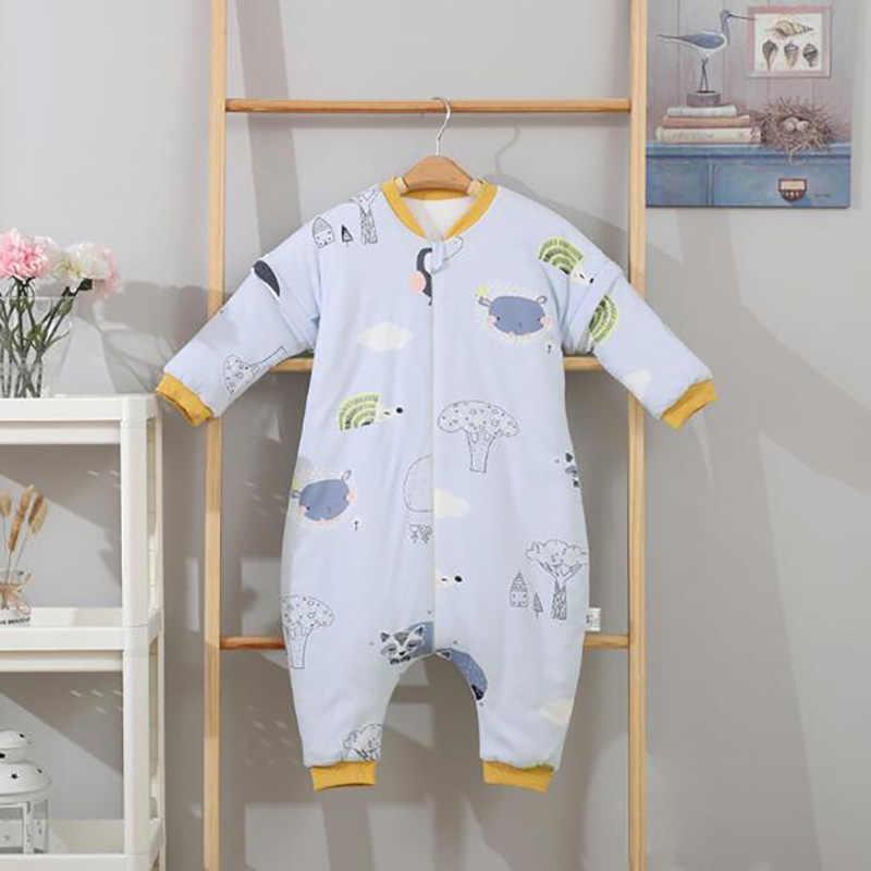 Sac de couchage pour nouveau-né | Robes de bébé en bas âge, sac de couchage à jambe fendue à manches longues, amovible automne et hiver YMM036