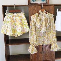 Hohe Qualität Floral Print Shorts 2020 Frühling Sommer Neue Urlaub Stil Australien Mode Hohe Taille Shorts