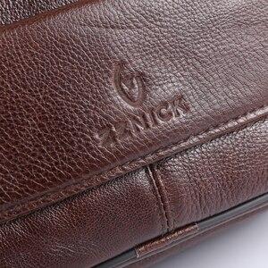 Image 3 - ZZNICK 2020 Genuine Cowhide Leather Shoulder Bag Small Messenger Bags Men Travel New Fashion Men Bag Flap Crossbody Bag Handbags