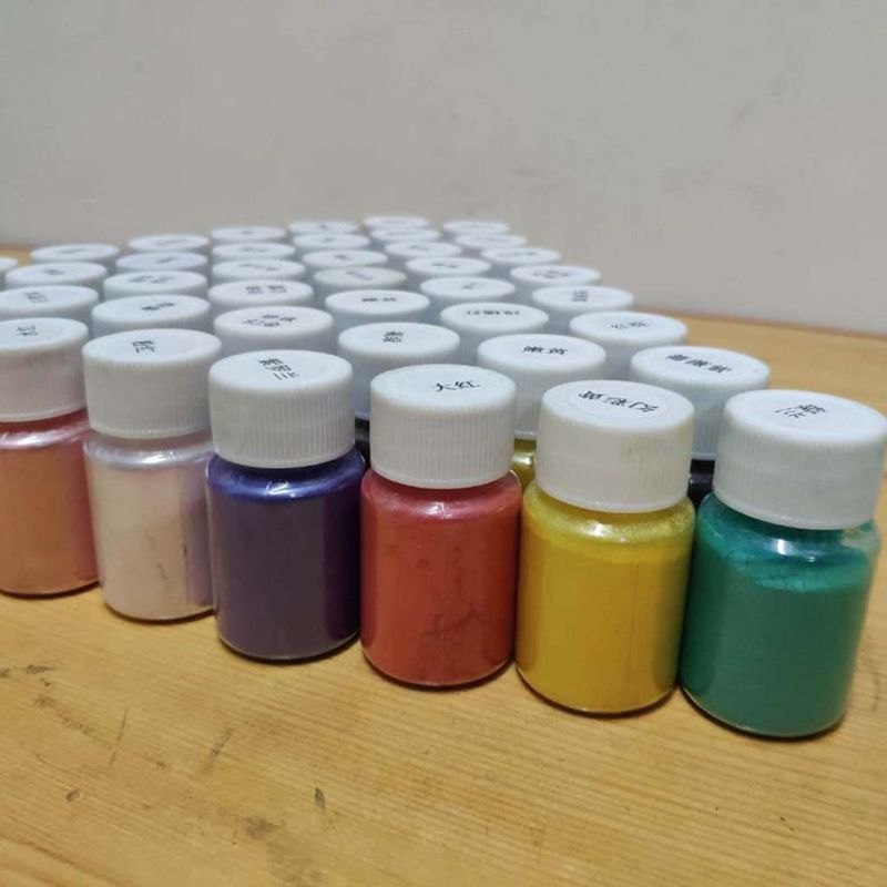 41Color Pearlescent Mica Powder Epoxy Resin Dye Pearl Pigment Jewelry Making 10g X7JB