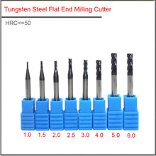 цена на End mills 3mm4mm 5mm 6mm 8mm 12mm 4 Flute HRC50 Carbide endmill machine Tungsten Steel cnc Milling Cutter End Mill machine tools