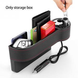 Image 5 - Органайзер для автомобильного сиденья, коробка для хранения с зазором, чехол из искусственной кожи, карман для автомобильного сиденья, Боковой разрез для ключей, кошелек, монеты, телефон, USB зарядное устройство
