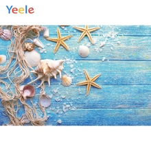 Yeele Summer Wood Wall Starfish Photocall Vinyl Cloth Photography Background for Studio Photo Props Baby Newborn Backdrops