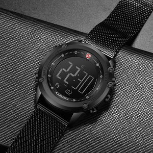 Image 5 - KADEMAN Military Sports Mens Watch Digital Display Waterproof Step Counter Leather Clock Top Luxury Brand LED Male Wristwatches