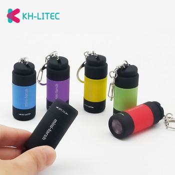 KHLITEC LED mini-latarka 0 3W 25Lum LED ładowane na USB latarka brelok Mini latarka jasne oświetlenie 2018 led latarka tanie i dobre opinie KH-LITEC Odporny na wstrząsy Samoobrona Twarde Światło Bez regulacji Flashlights 50-100 m Pojedynczego pliku 0-5w Shock Resistant Self Defense Hard Light