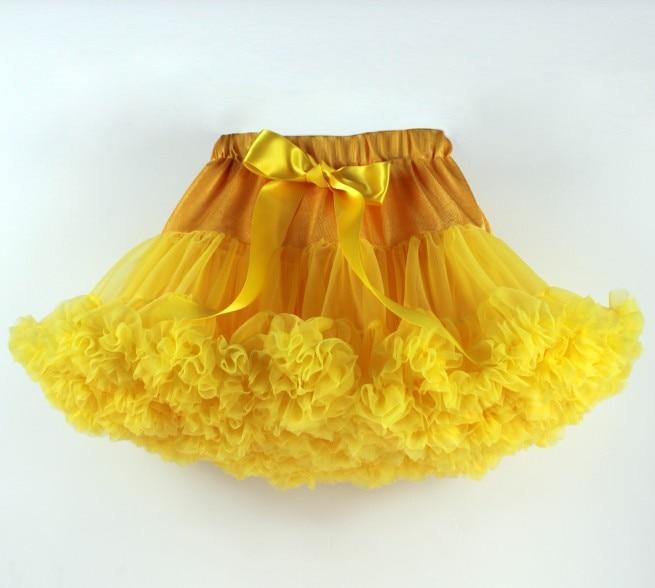 Пышные юбочки для девочек; летняя одежда для девочек; юбка-пачка; Одинаковая одежда для мамы и дочки; юбка для танцев для девочек - Цвет: Золотой