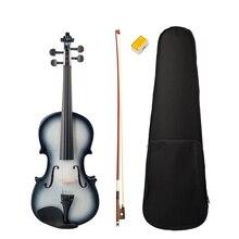 цена на 4/4 Violin High Gloss Finish 4/4 Violin Black and White Beginner Violin