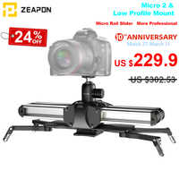 Zeapon Micro 2 Rail Slider Aluminum Alloy Lightweight Portable for DSLR and Mirrorless Camera with Easylock 2 Low Profile Mount