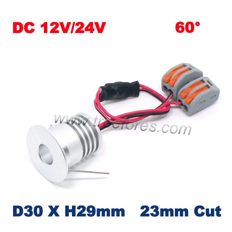 20PCS 3W 25mm CREE <font><b>12V</b></font> 24V <font><b>LED</b></font> <font><b>Downlight</b></font> CE RoHS Mini Spot Lamp Home Interior Spot Lighting image