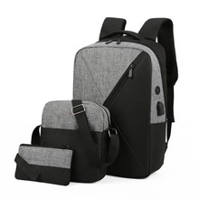 Popular three piece computer backpack Oxford cloth schoolbag men's and women's multifunctional backpack business bag bags bags