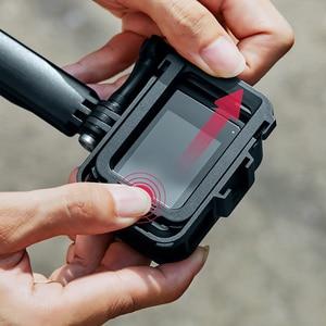 Image 3 - البلاستيك الإطار القياسي ل GoPro بطل 8 الإسكان قذيفة الفيديو الضوئي واقية ميكروفون جبل حامل عمل ملحقات الكاميرا
