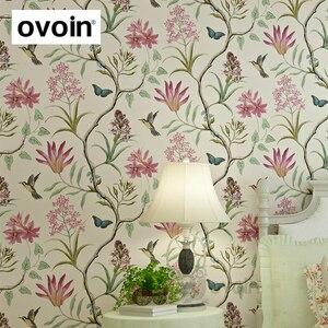 Image 1 - Chinoiserie papier peint moderne Vintage avec fleurs roses, papillons, oiseaux tropicaux