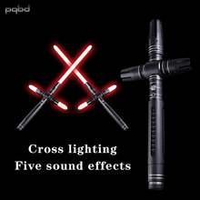 Световой меч pqbd Металлическая Ручка Тяжелая дуэльная перекрестная