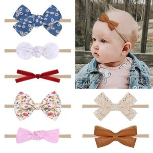 10 Uds Linda Diadema con lazo para bebé para niña bandas para la cabeza de nailon turbante diademas para recién nacidos diademas para Niños Accesorios para el cabello del bebé