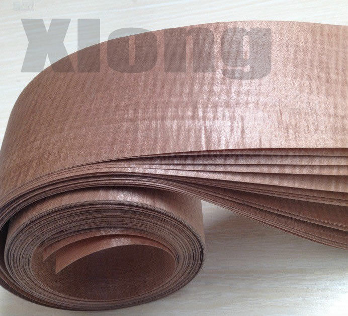 Length:2.5meters Thickness:0.35mm  Width:10cm  Brown Film Veneer Wood Technology Manual Leather Furniture Wood Edge