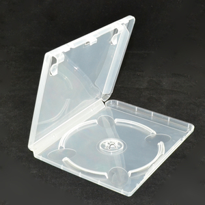 Image 1 - 10 pcs CD DVD Disc Plastic Case Capacity Disc CD Storage Box for PS3