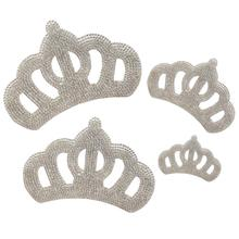 Rhinestone Crown Patch iron on Patches Queen Crystal Applique For Baby Children Clothing DIY Clothes