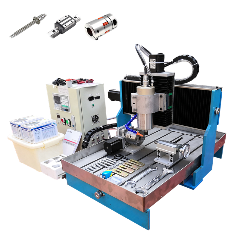 Offline DSP Control System CNC Router 4 Axis 6040 1.5KW 2.2KW Linear Guide Rails Aluminum Iron Engraving Cutting Machine