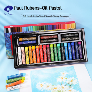 Paul Rubens Artist Professional Painting Oil Pastel 12/24/36/48 Colors Set Graffiti Soft Pastel Drawing Pen For Art Supplies