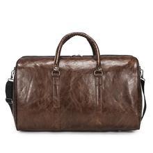 Męskie torby podróżne moda wodoodporne odporne na zużycie torby podróżne PU skóra solidna torba na ramię większa pojemność sportowe torby bagażowe tanie tanio Wszechstronny 28cm 48cm zipper Podróż torba 560g SOFT 30cm Stałe