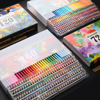 Brutfuner 48/72/120/150/160 Color Professional Oil Pencils Set Wood Soft Watercolor Pencil For Drawing Sketch Art Supplies - discount item  50% OFF Pens, Pencils & Writing Supplies