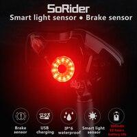 MEROCA Fahrrad Smart Rücklicht Intelligente Sensor Bremslicht Rennrad MTB Wasserdichte Hinten Schwanz Lichter