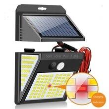 indoor outdoor solar lamp battery indicator garden wall lights motion sensor