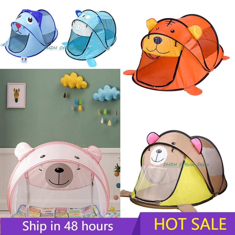 Портативная детская палатка, мультяшная вигвам для детей, Детский игровой домик, большая палатка, всплывающая игрушка, подставка для бассей...