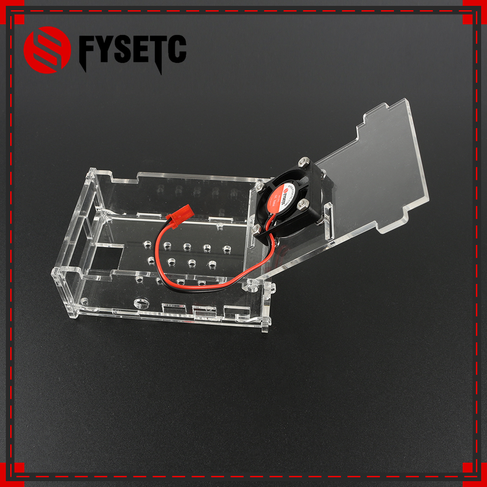 Raspberry Pi 4 Acrylic Case Transparent Box Shell Support CPU Cooling Fan For Raspberry Pi 4 Model B