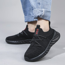 Breathable Kids Running Sneakers Boys Slip On Sports Shoes Children Lightweight Non-Slip Casual Shoes Girl Tenis Sneakers Black