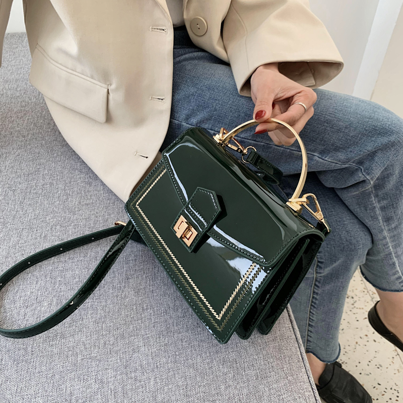 Patent Leather Chain Design Crossbody Bags Women Small Chain Handbag Small Bag Hand Bag Ladies Designer Evening Bags With Handle