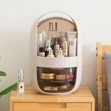Women's Transparent Makeup Box Round Acrylic Cosmetic Travel Organizer Simple Waterproof Dust-proof Belt Drawer Storage Boxes автомобильный органайзер органайзер ritmix rao 0807