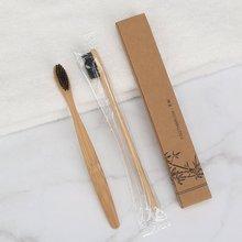 Toothbrush Healthy Bamboo-Handle Soft-Hair Wood Environmental-Friendly Natural