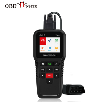 OBD2 Scanner Car Diagnostic Tool YA401 Turn Off Check Engine Light Multilingual Free Update Automotive Fault Code Reader launch x431 cr3008 obd2 automotive scanner obdii code reader diagnostic tool check engine battery voltage free update pk kw850
