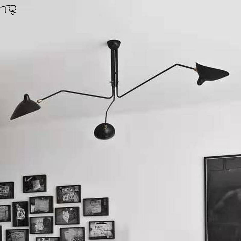Nordic Retro Industrial Vintage Metal Ceiling Chandelier Lighting Led Claw Artistic Black Living Room Bar Office Cafe Loft Decor in Chandeliers from Lights Lighting