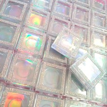 Caixa de cílios de plástico por atacado embalagem de cílios de diamante retângulo 5d cílios