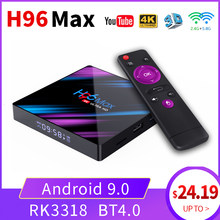 H96 max TV Box Android 9,0 RK3318 4K Netflix Youtube Android TV Box Google Stimme Smart TV Box Smart präfix für TV box set-top-(China)