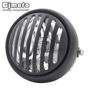 "Image 3 - Headl אור להארלי 6.5 ""אופנוע פנס הקרנת מנורת עבור הונדה ימאהה קוואסאקי ופר Bobber סיור קפה רייסר"