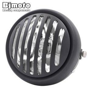 """Image 3 - Headl luz para harley 6.5 """"lâmpada de projeção do farol da motocicleta para honda yamaha kawasaki chopper bobber touring cafe racer"""