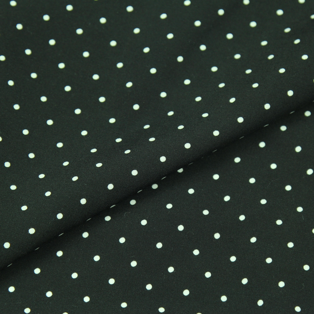 New 100/% cotton polka dots fabric by the metre in Black
