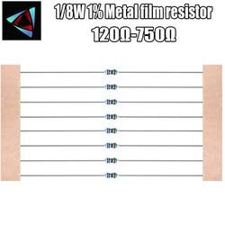 100pcs 1/120R 8W 1% resistor de filme de Metal 130 150 180 200 220 240 270 300 330 360 390 430 470 510 560 620 680 750 ohm